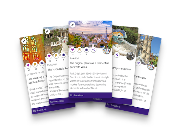 Use the unique mini travel guides as itinerary templates for your sightseeing when planning a trip.